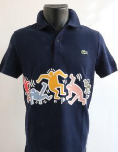 Polo Lacoste x Keith Haring bleu marine